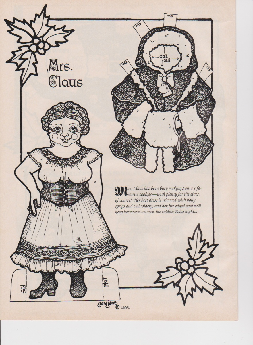 Mrs. Claus Paper Doll!