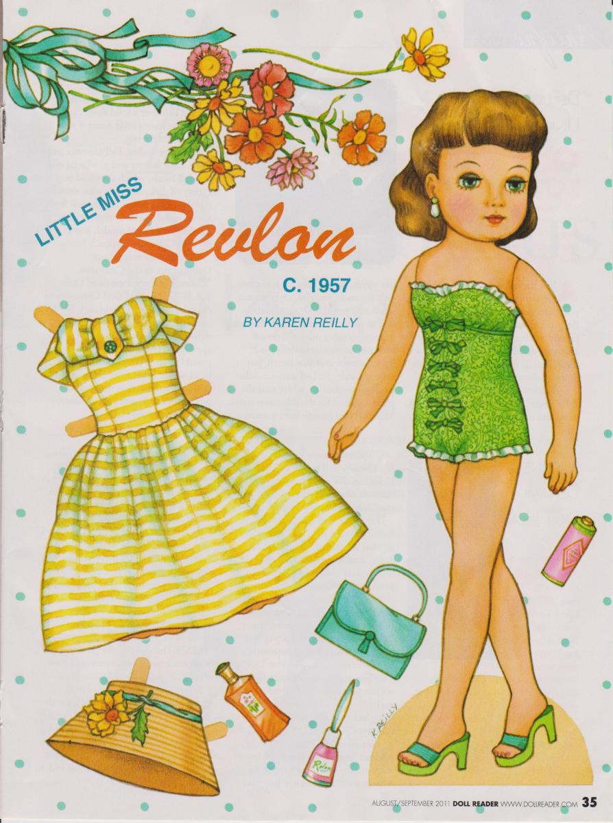 PAPER DOLL Little Miss. Revlon -Doll Reader 2011