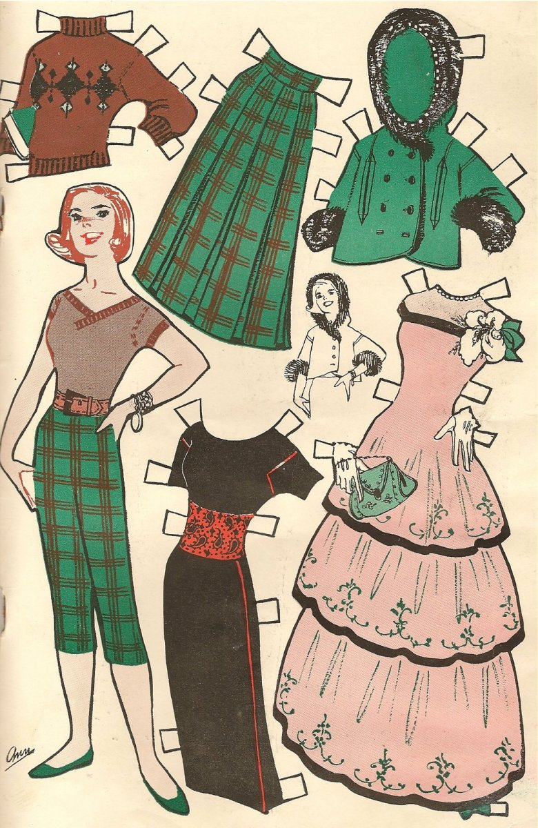 VINTAGE PAPER DOLLS -  DIY easy project! home decor in minutes! paperdoll for framing quick cheap and unique!